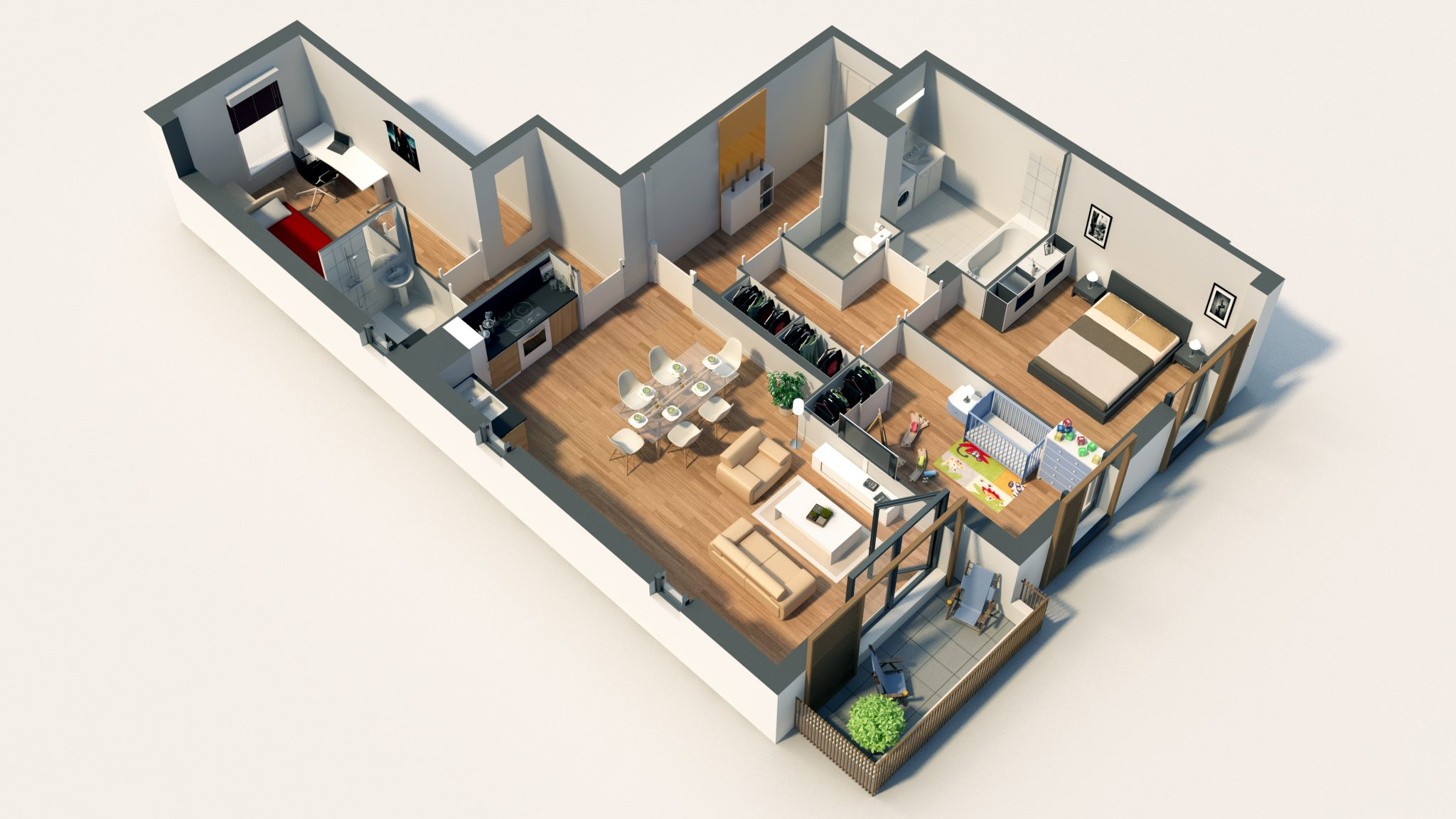 Programme plan 3d l 39 impression 3d for Plan maison interieur 3d