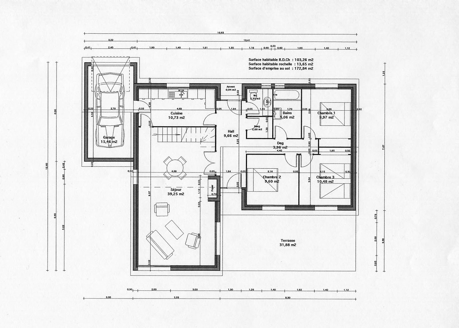 Plan gratuit maison architecte contemporaine for Plan maison contemporaine bbc