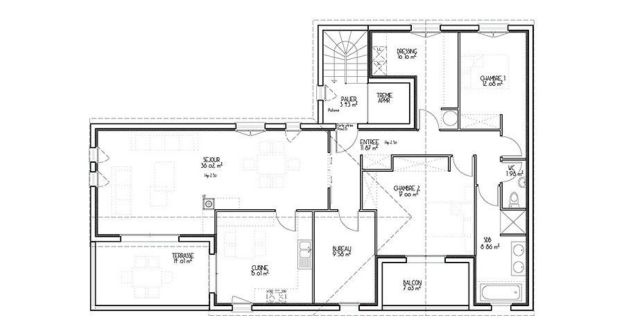 Plan maison l ces plans de maisons cologiques sont la for Plan maison mca