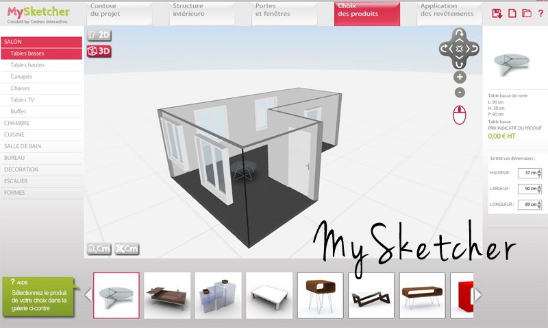 un logiciel d architecture 3d l 39 impression 3d. Black Bedroom Furniture Sets. Home Design Ideas