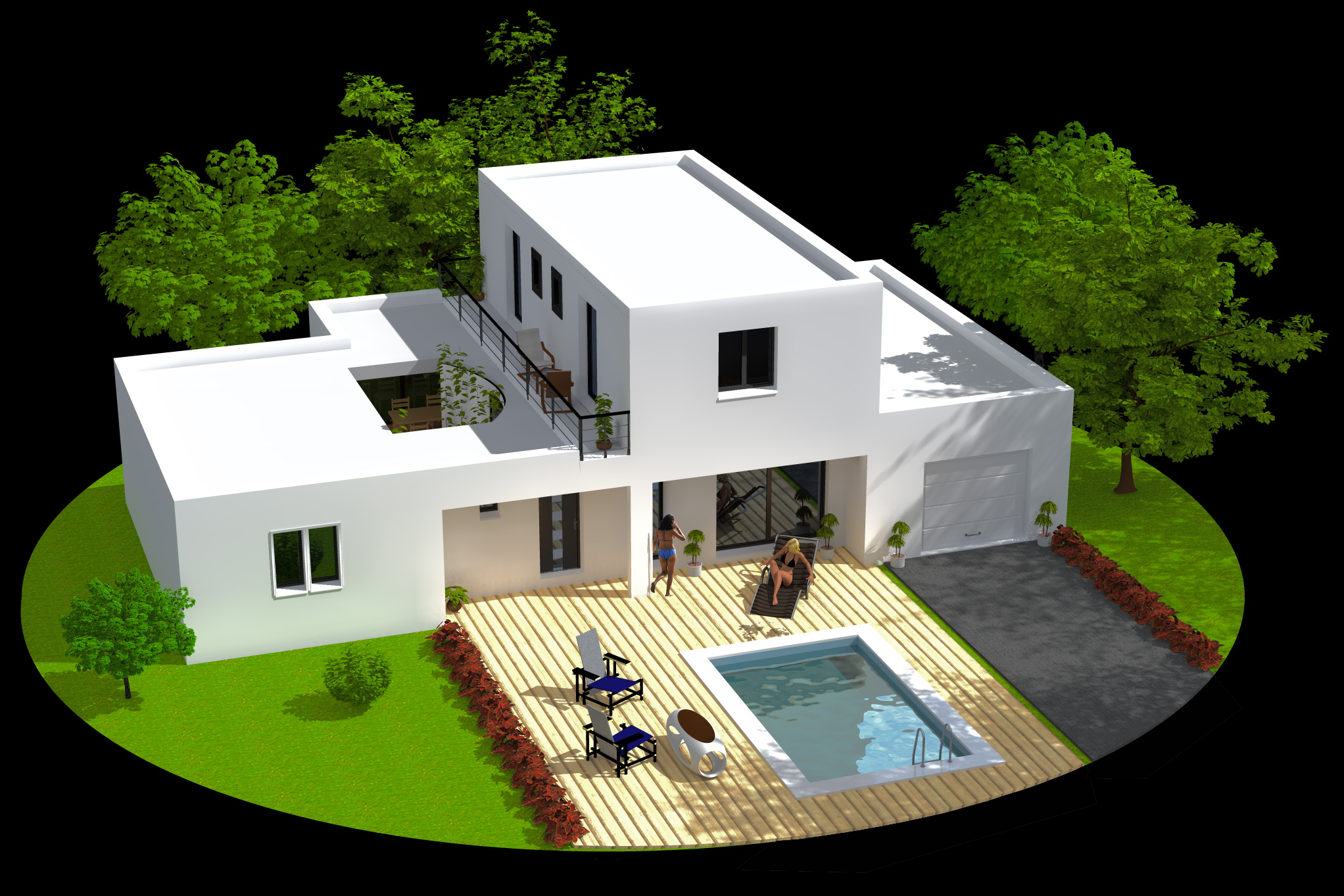 Plan maison en 3d l 39 impression 3d Three d house plans