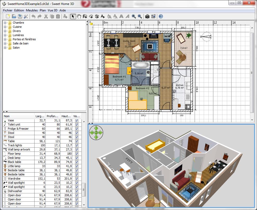 un t l charger logiciel architecture 3d fran ais gratuit l 39 impression 3d. Black Bedroom Furniture Sets. Home Design Ideas
