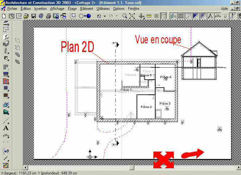 Logiciel dessin maison l 39 impression 3d for Plan en 2d