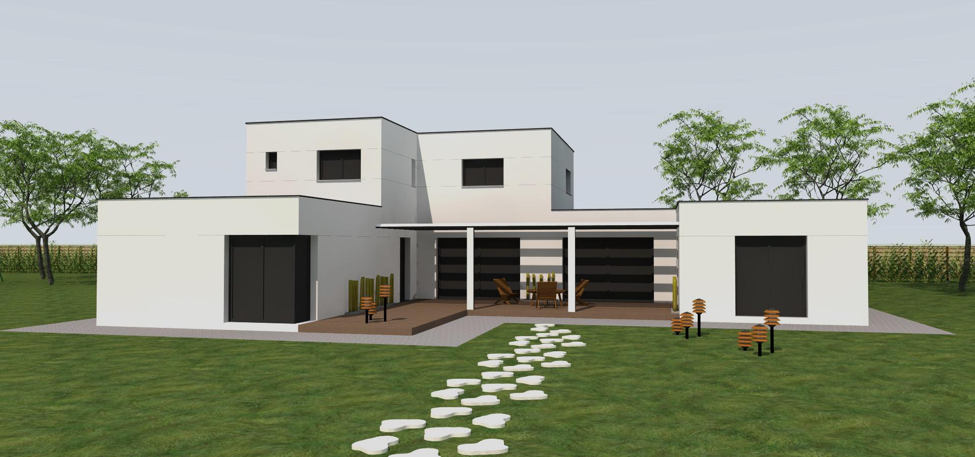 Maison en 3d dessin l 39 impression 3d - Dessin maison 3d gratuit ...