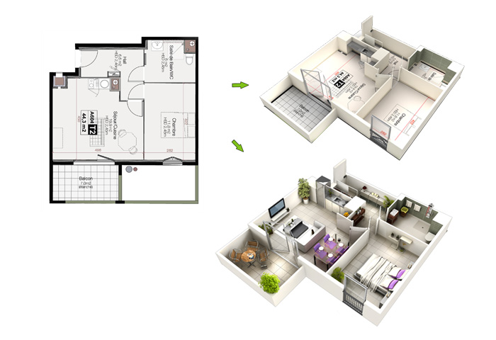 Plan en 3d l 39 impression 3d for Plans en 3d