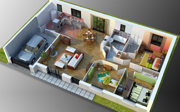 Un creation de plan 3d l 39 impression 3d for Creation plan maison