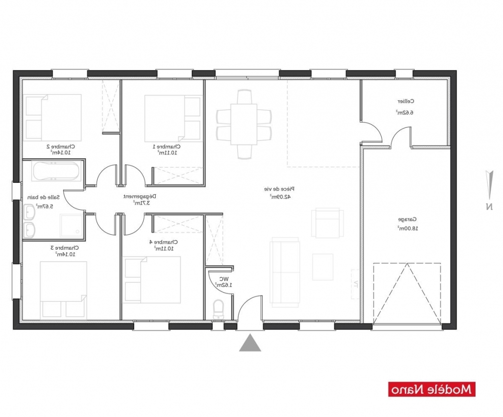 Plan maison 100m2 plein pied gratuit plan maison plein pieds magnificent on modern interior and for Plan maison gratuit d