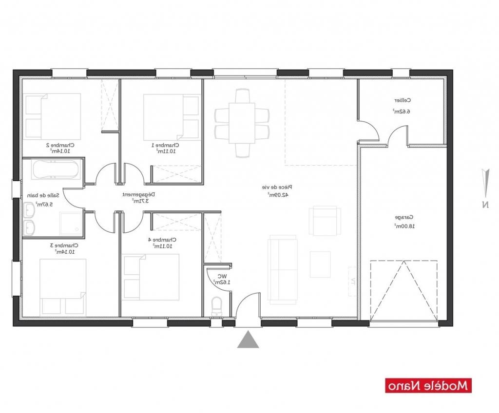 Plan maison gratuit plain pied l 39 impression 3d - Modele plan maison plain pied gratuit ...