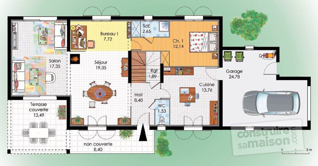 Plan habitation l 39 impression 3d - Plan maison provencale a etage ...