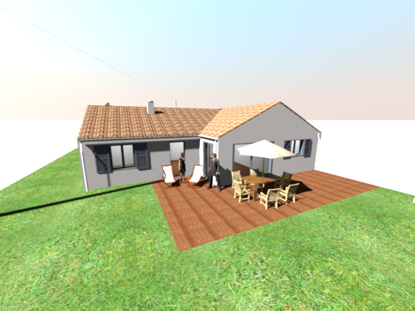 Plan maison 3d exterieur l 39 impression 3d for Plan 3d exterieur