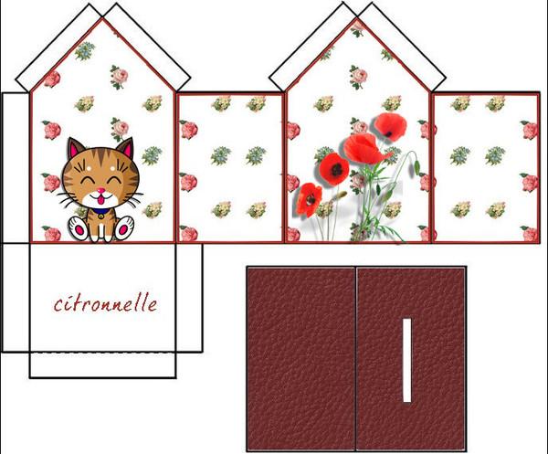 Patron de maison en papier a imprimer l 39 impression 3d - Gabarit maison en carton ...