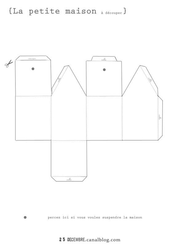 patron maison en papier l 39 impression 3d. Black Bedroom Furniture Sets. Home Design Ideas
