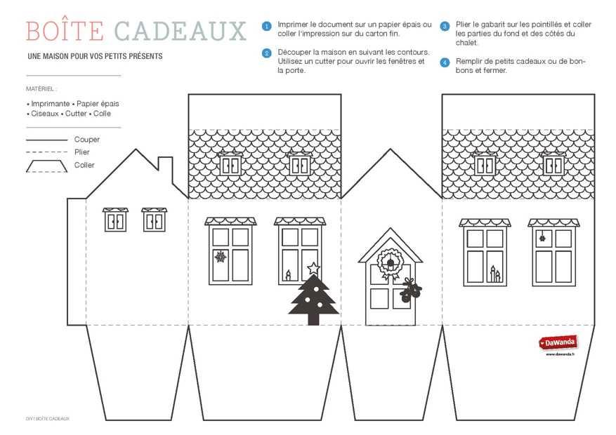 Maison en carton a imprimer l 39 impression 3d - Gabarit maison en carton ...