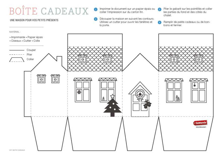 maison en carton a imprimer l 39 impression 3d. Black Bedroom Furniture Sets. Home Design Ideas