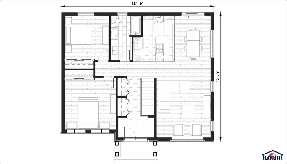 Plan maison 2d l 39 impression 3d for Maison 2d
