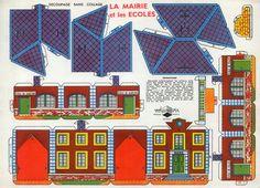 Maison en papier d couper l 39 impression 3d for Maison papier a decouper