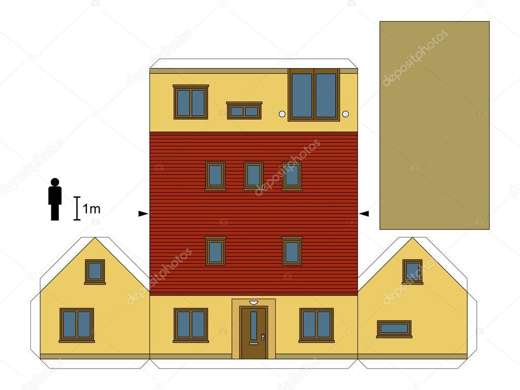 Maquette maison papier l 39 impression 3d - Maison papier a decouper ...