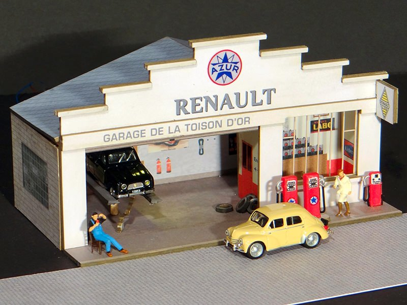 Maquette ho en carton a telecharger l 39 impression 3d for Renault service garage