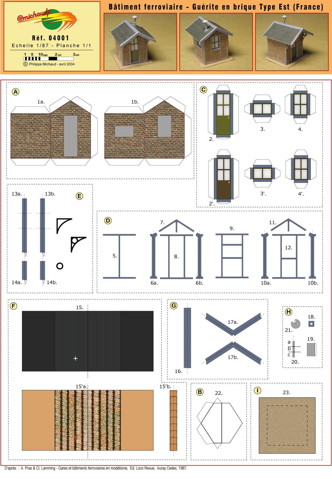 maquette de maison en carton facile l 39 impression 3d. Black Bedroom Furniture Sets. Home Design Ideas