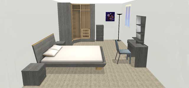 chambre en 3d l 39 impression 3d. Black Bedroom Furniture Sets. Home Design Ideas