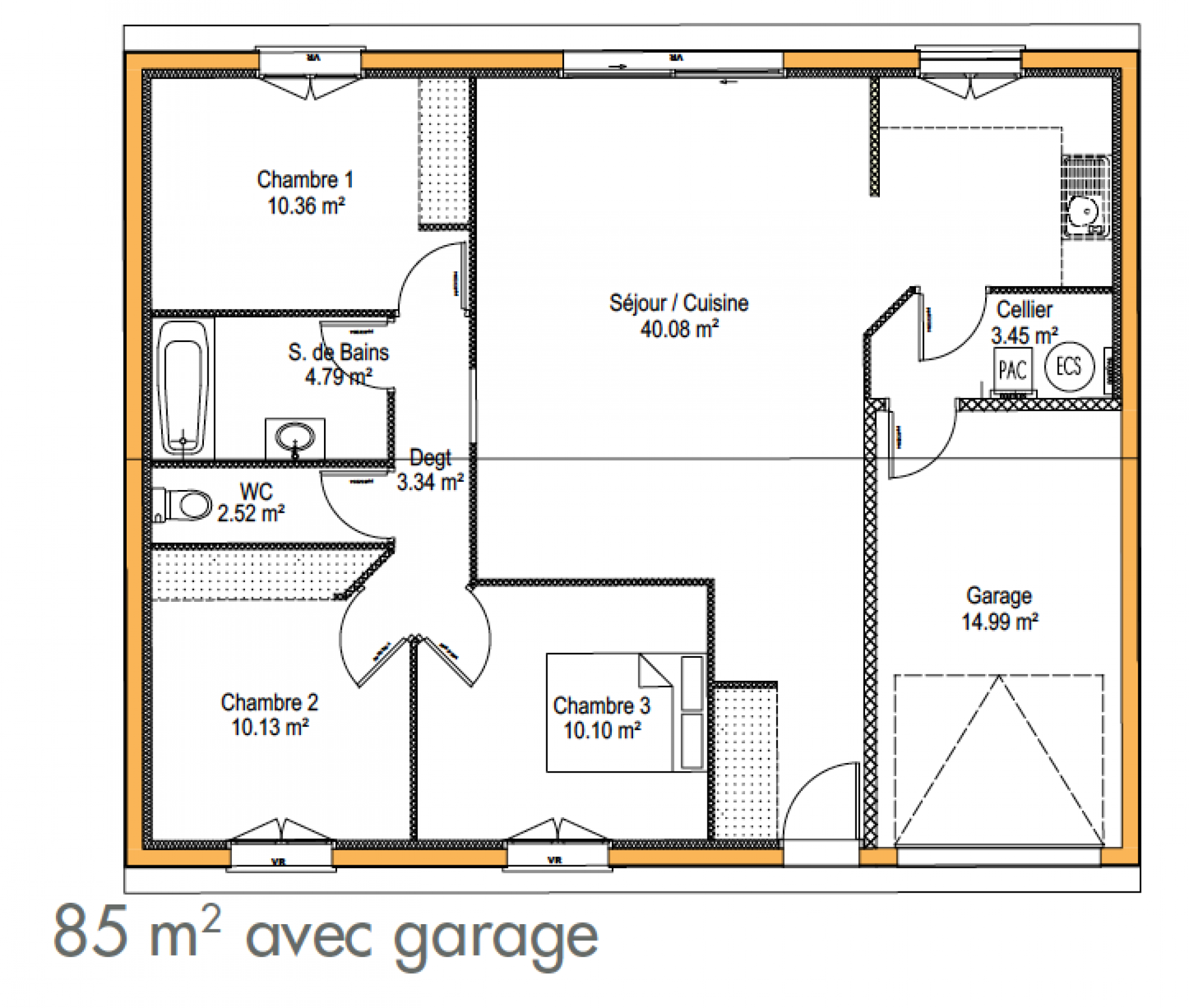 ... Plan Maison Simple L 39 Impression 3d For Plan Construction Garage  Gratuit ...