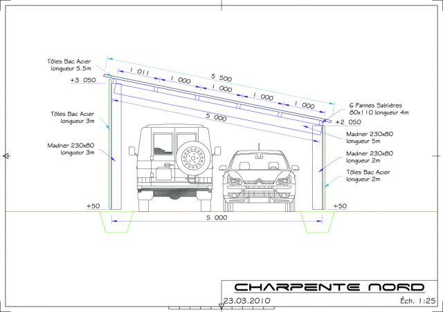 Plan garage 20m2 en parpaing l 39 impression 3d for Construction garage parpaing