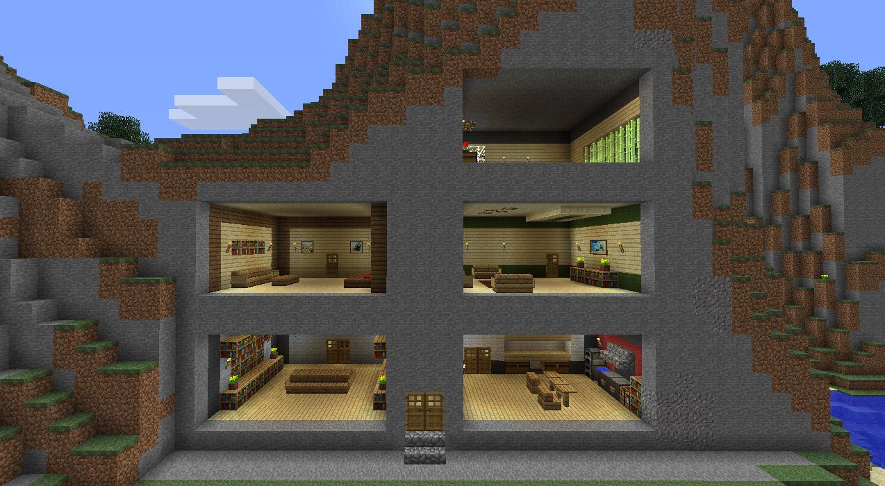 Interieur de maison minecraft l 39 impression 3d - Jardin interieur maison ...