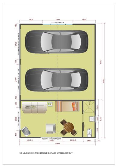 Plan double garage l 39 impression 3d for Plan d un garage double