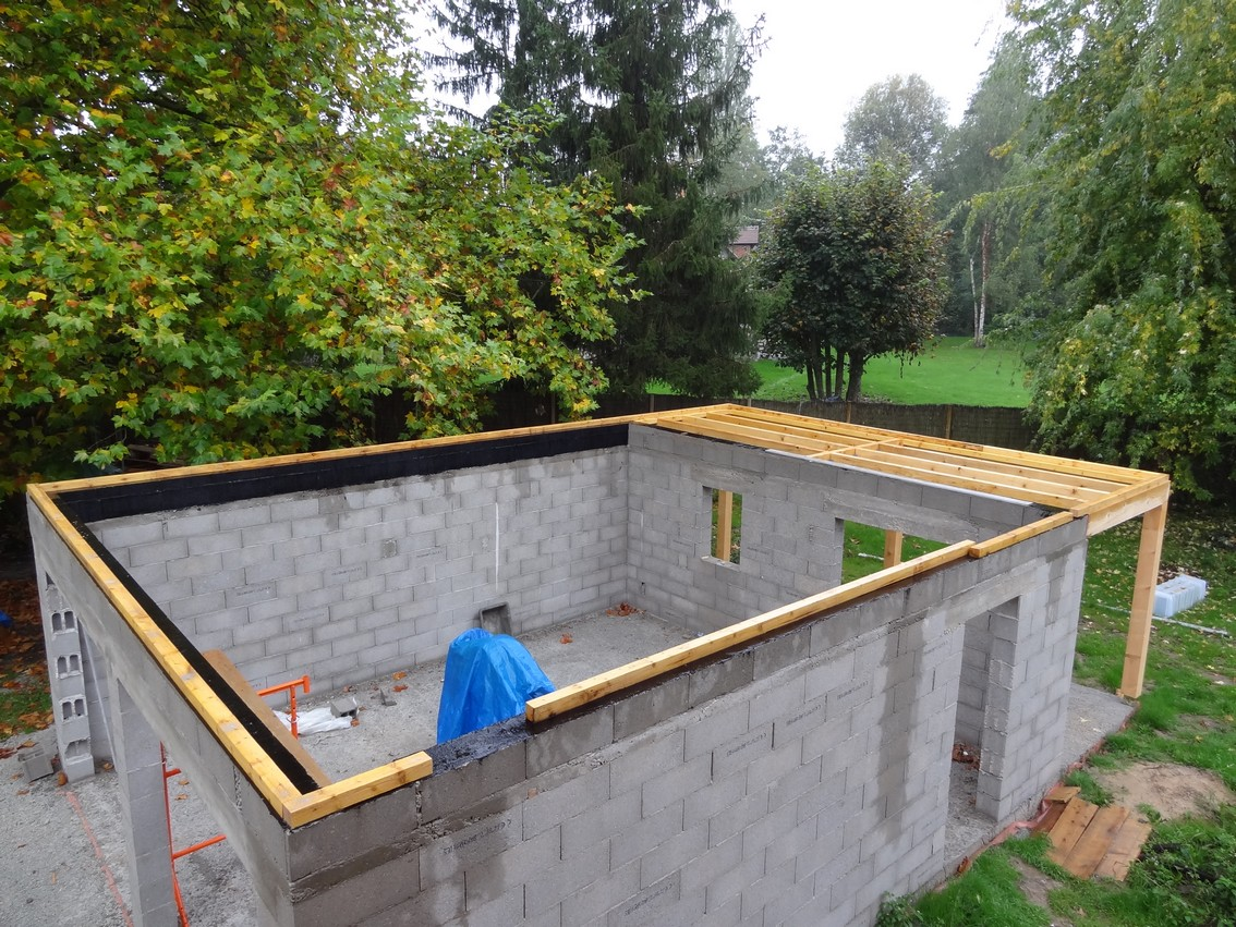 Construction garage toit plat l 39 impression 3d - Structure en bois pour garage ...