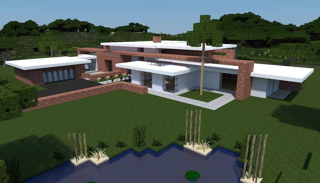 Video maison moderne minecraft l 39 impression 3d for Plan maison minecraft moderne
