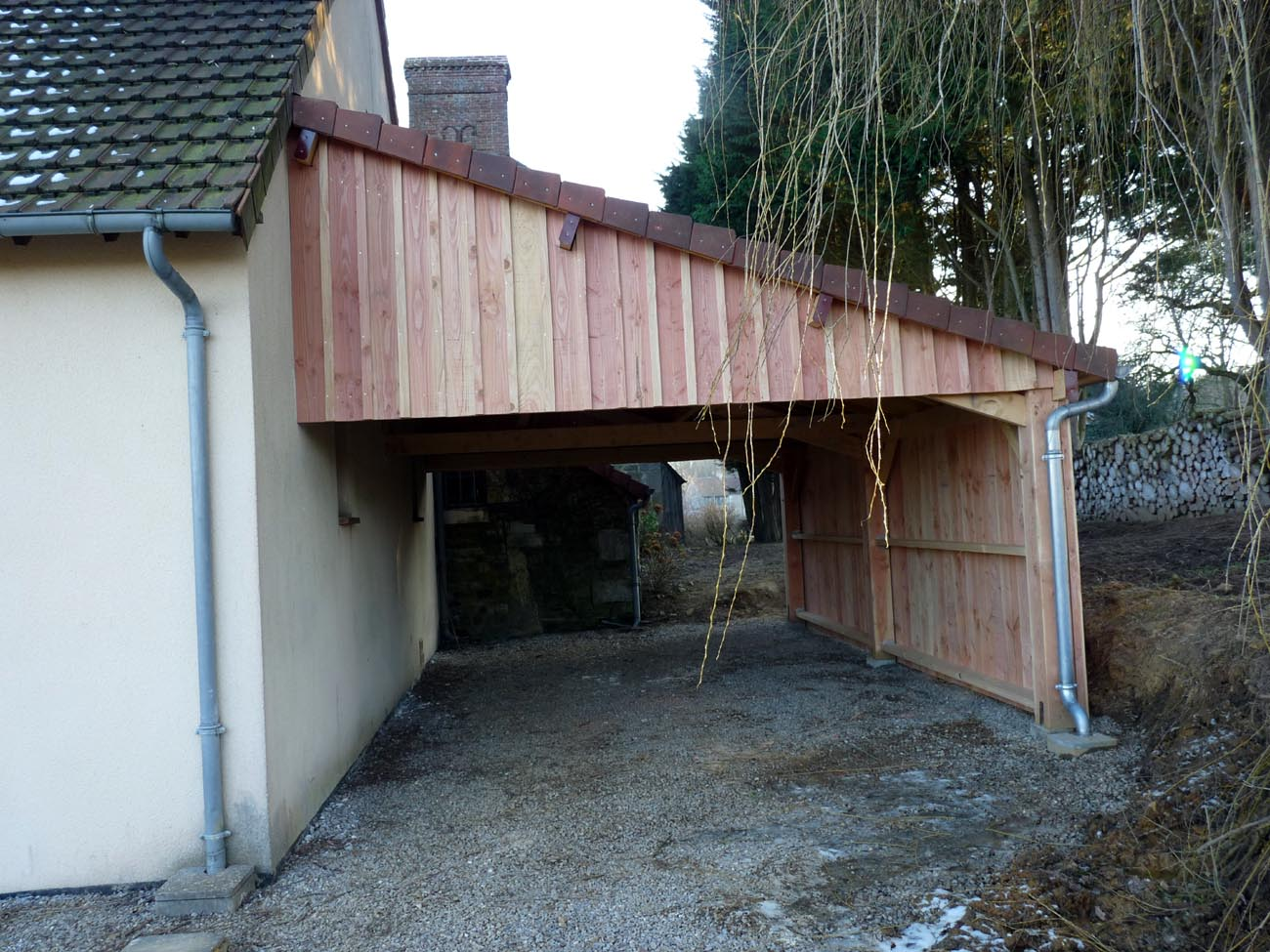 Comment construire un garage en bois l 39 impression 3d for Extension maison garage
