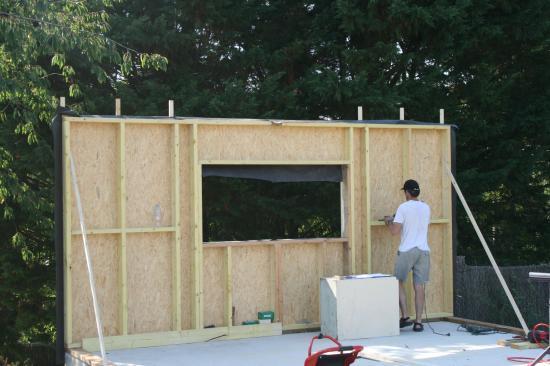 construction de garage en bois l 39 impression 3d. Black Bedroom Furniture Sets. Home Design Ideas
