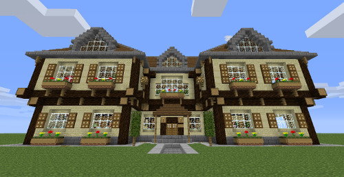 Construction de maison minecraft l 39 impression 3d - Construction minecraft maison ...