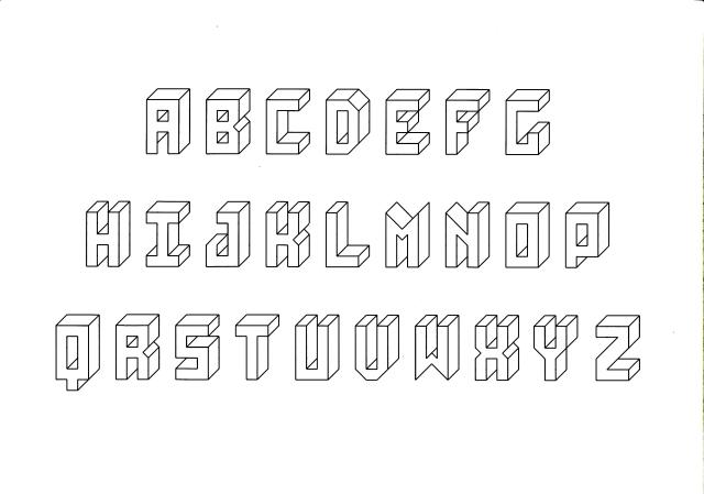 Lettre en 3d andallthingsdelicious - Dessiner l alphabet ...