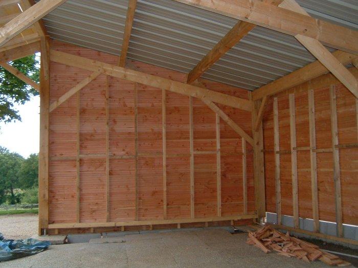 plan garage bois 1 pente l 39 impression 3d. Black Bedroom Furniture Sets. Home Design Ideas
