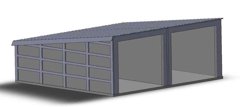 garage double pr fabriqu b ton l 39 impression 3d. Black Bedroom Furniture Sets. Home Design Ideas