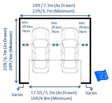 Dimension d un double garage l 39 impression 3d for Double garage sizes