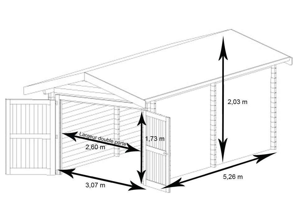 Dimension d un garage simple l 39 impression 3d for Combien coute la construction d un garage de 20m2