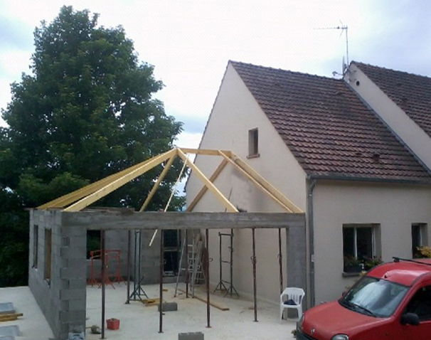 Garage attenant maison l 39 impression 3d for Construction garage double