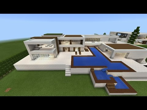 Grande maison moderne minecraft l 39 impression 3d for Plan maison minecraft moderne
