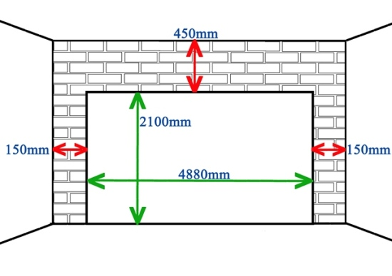 Dimension double garage l 39 impression 3d for Average width of garage door