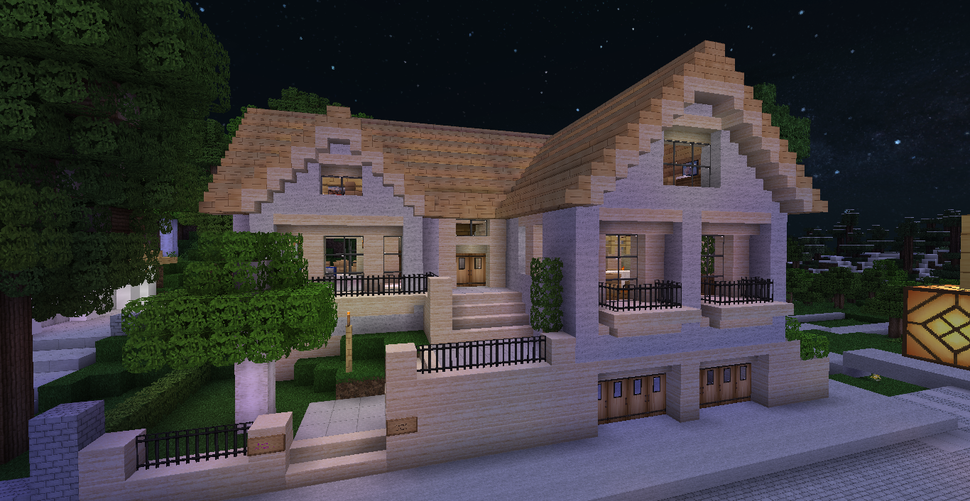 Comment faire une belle maison moderne sur minecraft l for Minecraft maison design