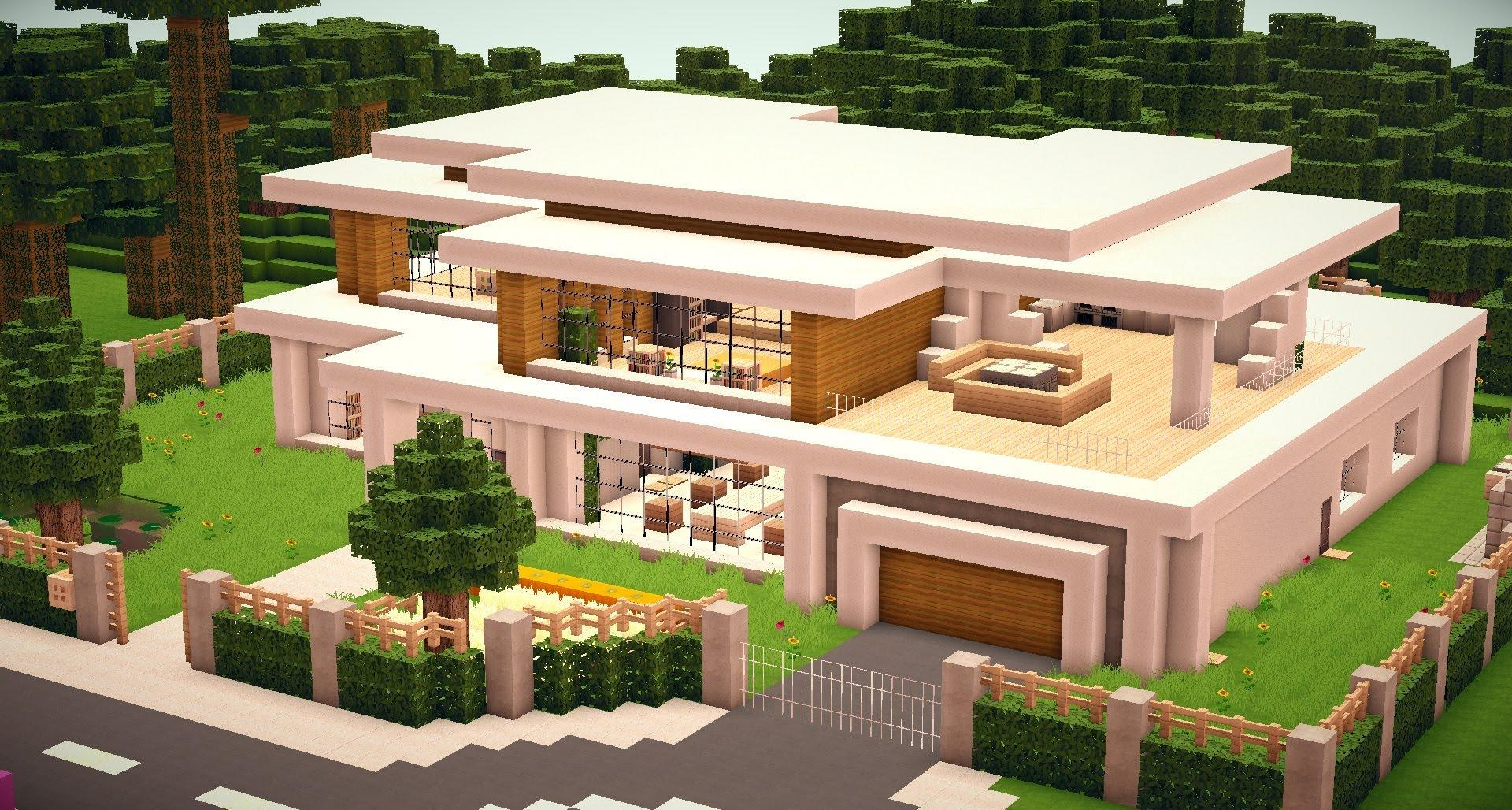 Minecraft maison moderne de luxe l 39 impression 3d for Site de construction de maison 3d