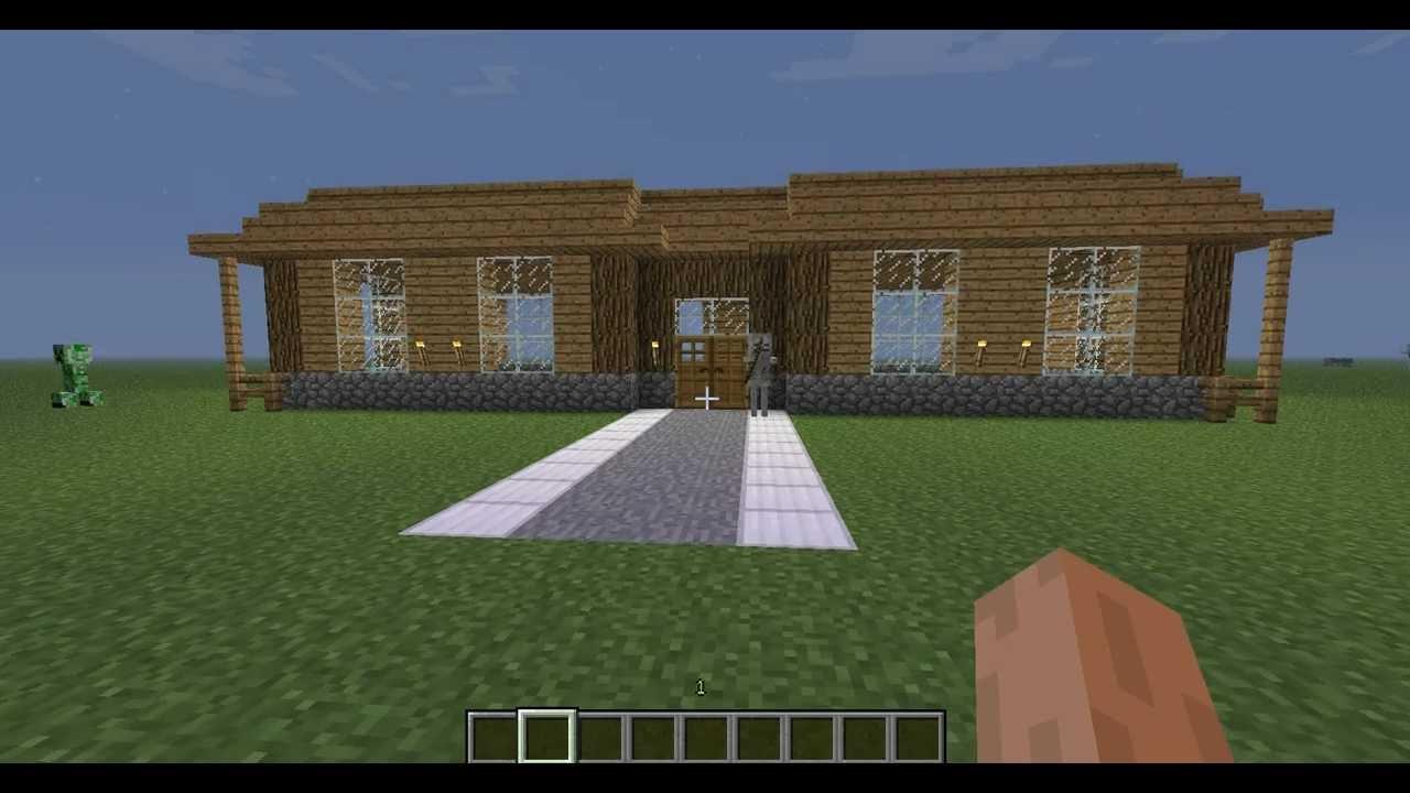 Comment faire une belle maison minecraft moderne with comment faire une maison