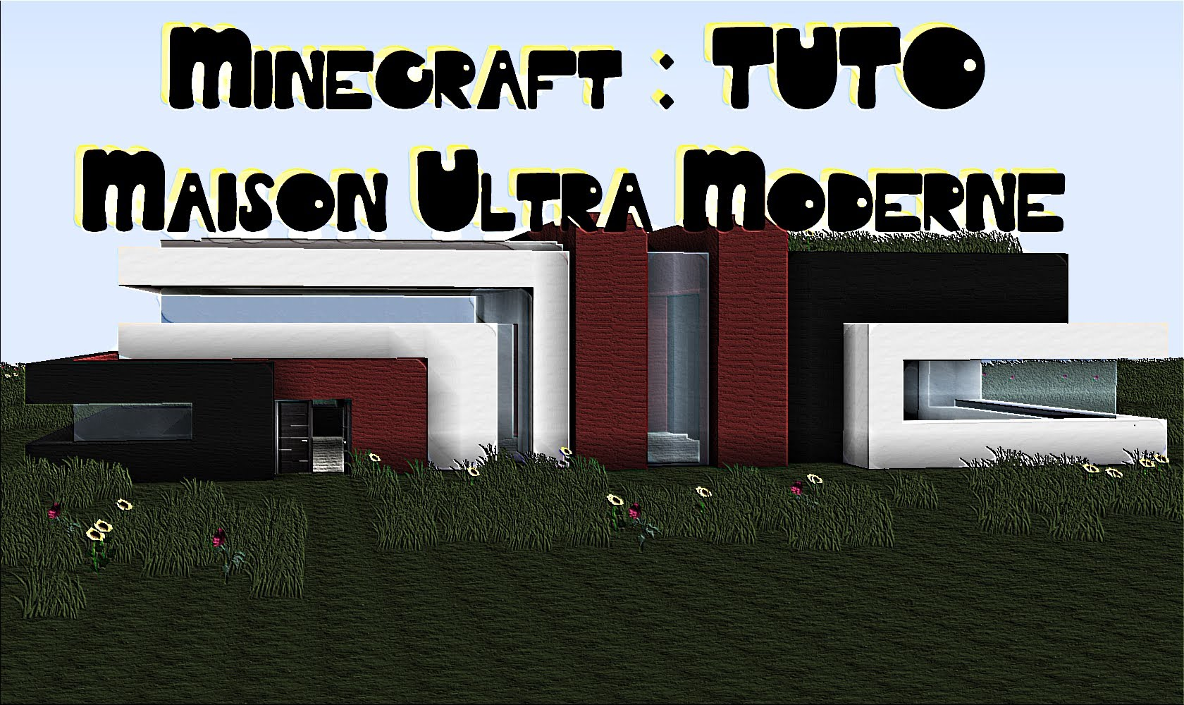 Maison moderne minecraft tuto facile l 39 impression 3d for Plan maison minecraft moderne