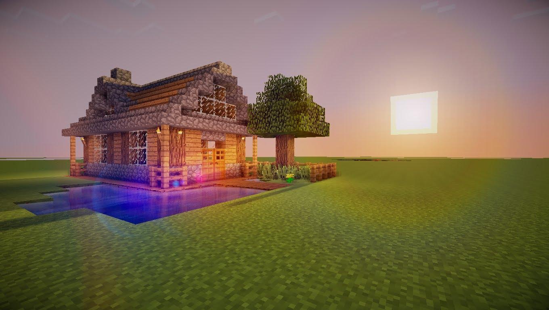 Comment faire une belle petite maison dans minecraft l - Comment faire une belle chambre minecraft ...