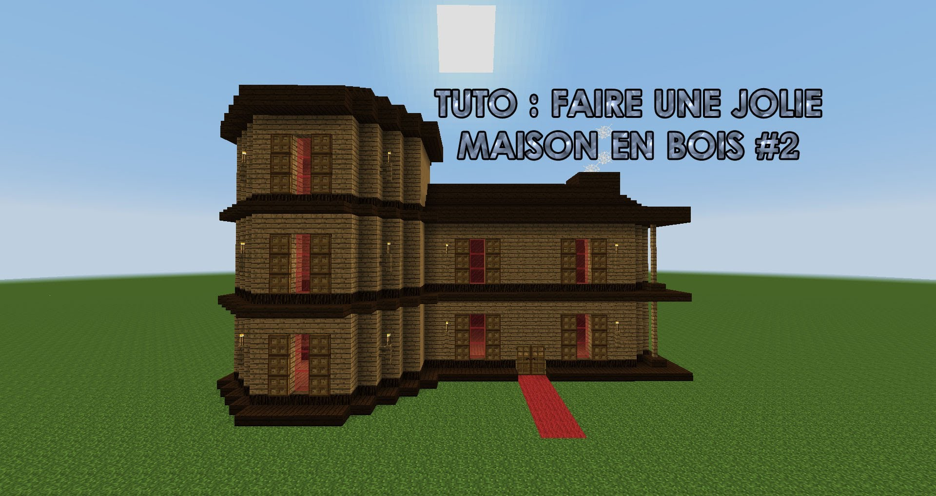 Minecraft tuto maison moderne en bois l 39 impression 3d for Minecraft construction maison moderne