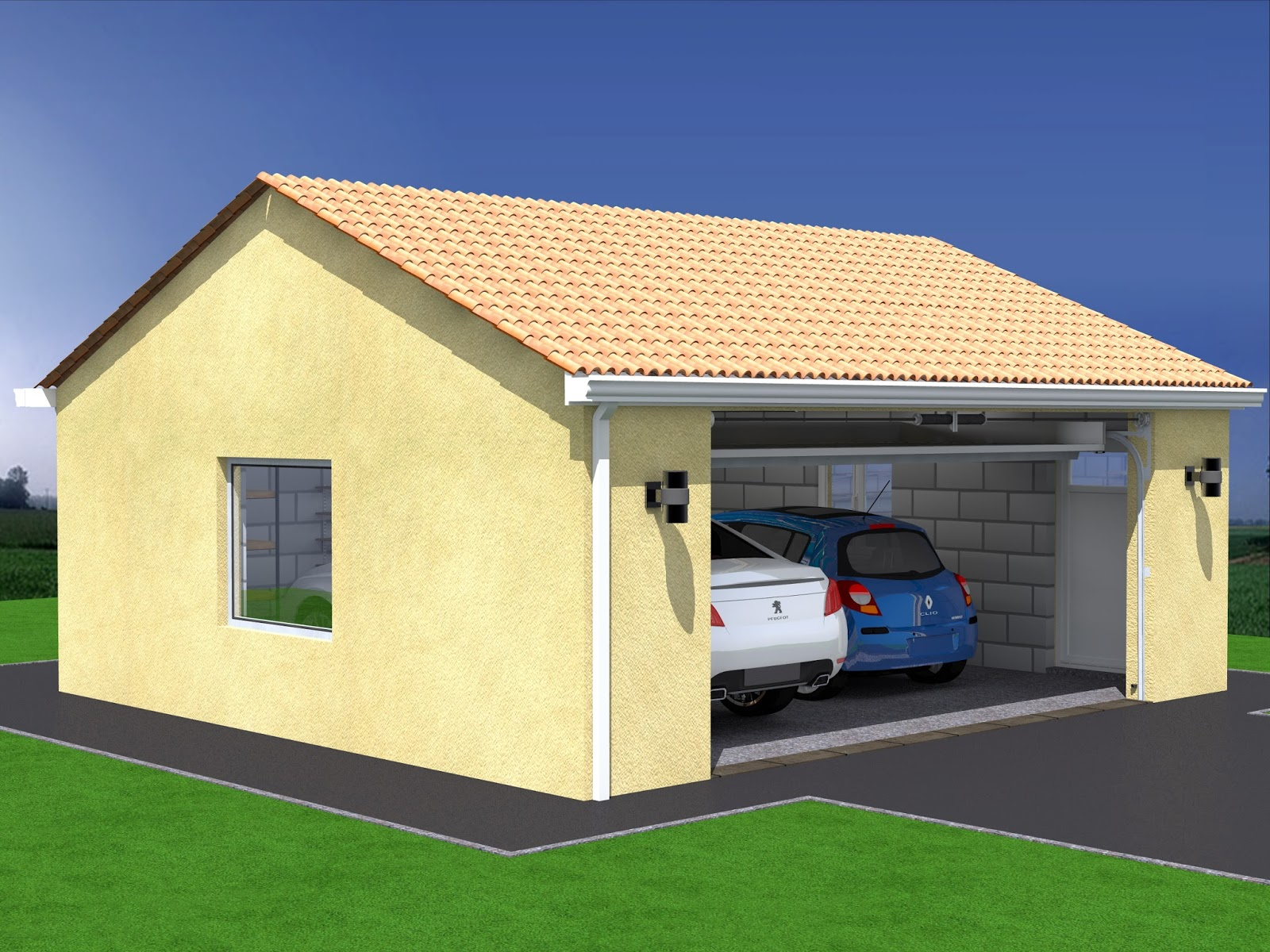 Cout de construction d un garage double l 39 impression 3d for 3d garage builder