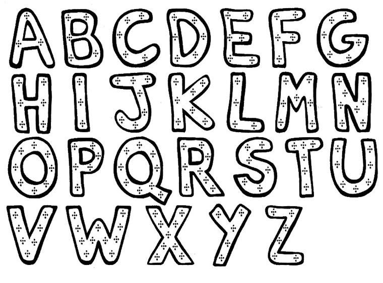 lettre de l alphabet en relief