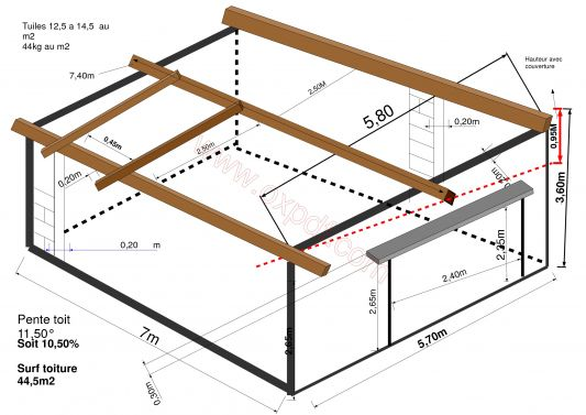 plan de garage une pente l 39 impression 3d. Black Bedroom Furniture Sets. Home Design Ideas